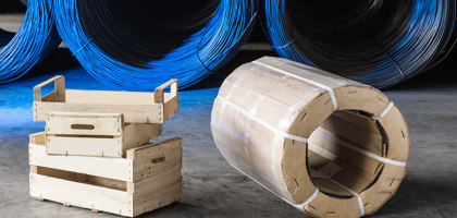 Wire in carton drums
